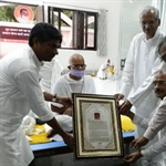 The Anuvrat Ahimsa Award 2013 for International Peace given to Rajagopal!
