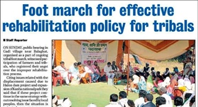 Ekta Parishad's footmarch in India's tribal belt goes on - article in the Hitvada
