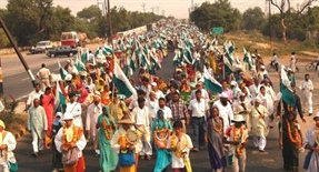 Footmarch from Palwal to Delhi from 20th to 24th February