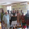 Jairam Ramesh, Min. of Rural Development, with the Ekta Parishad team in Delhi in December 2013 credit Ekta Parishad